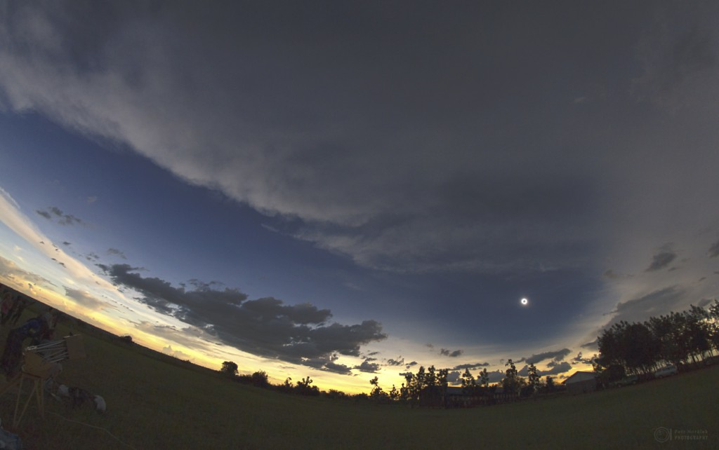 The lunar shadow in Pakwero, Uganda