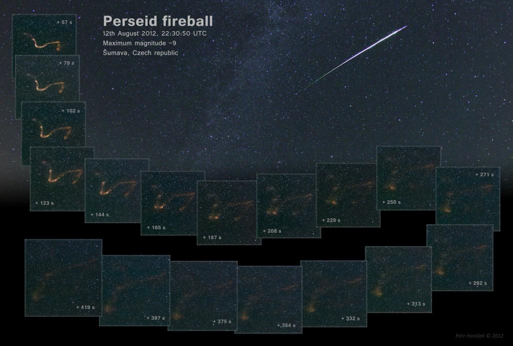 Fireball of Perseids 2012