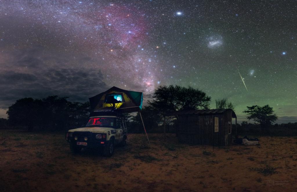 Calm Geminid night in Namibia