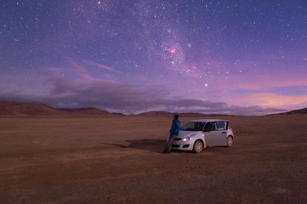 By the calm Atacama moonlit