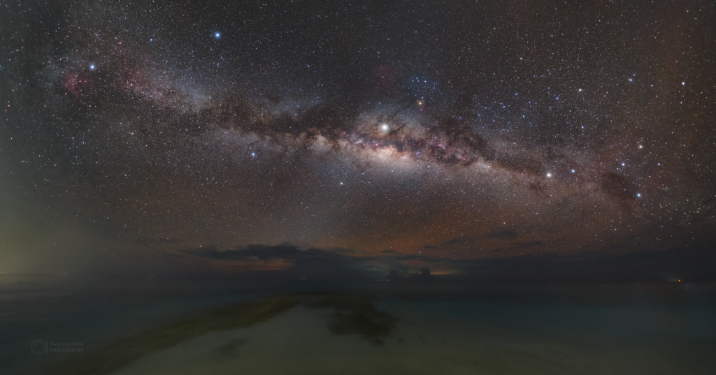 Milky Way rising over so-called Dolphin's Beach