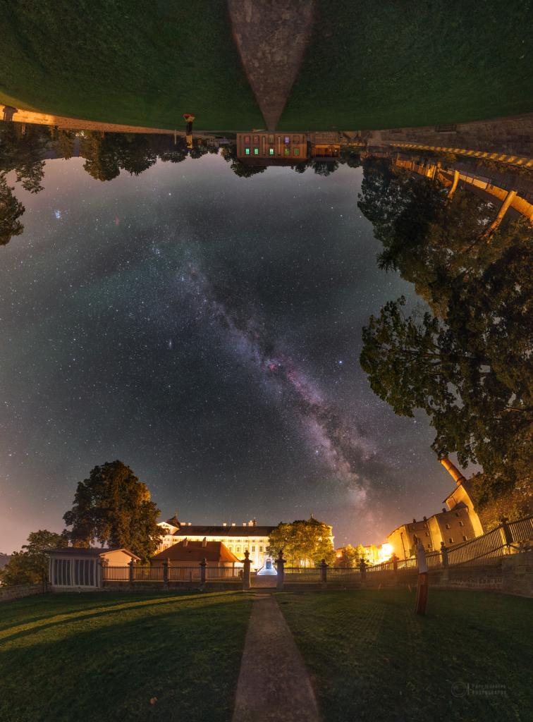 Skies above Broumov Monastery's garden