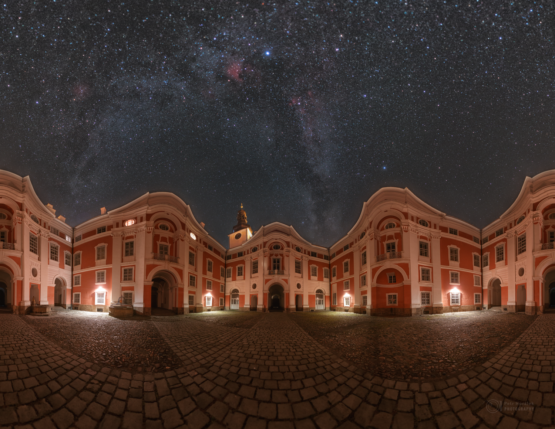 Stars over Broumov Monastery