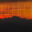 Distant High Tatras in dusk - anotated