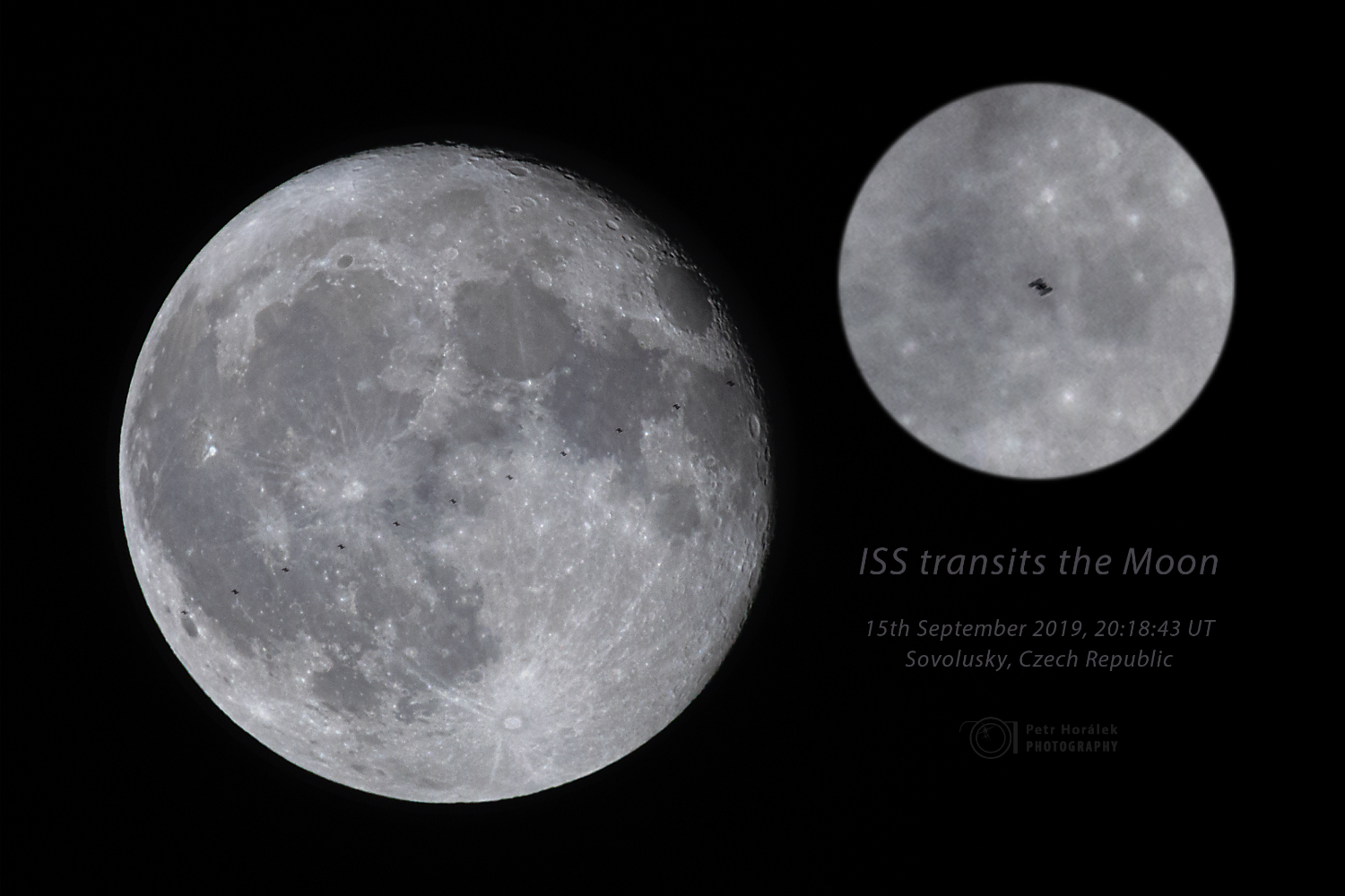 Cosmic Station transits the Moon