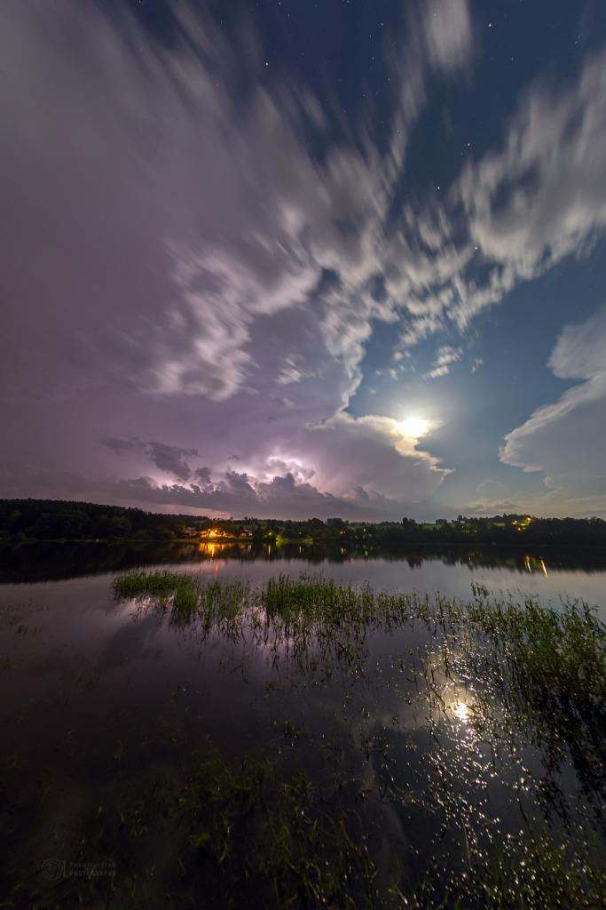Moonlight storm