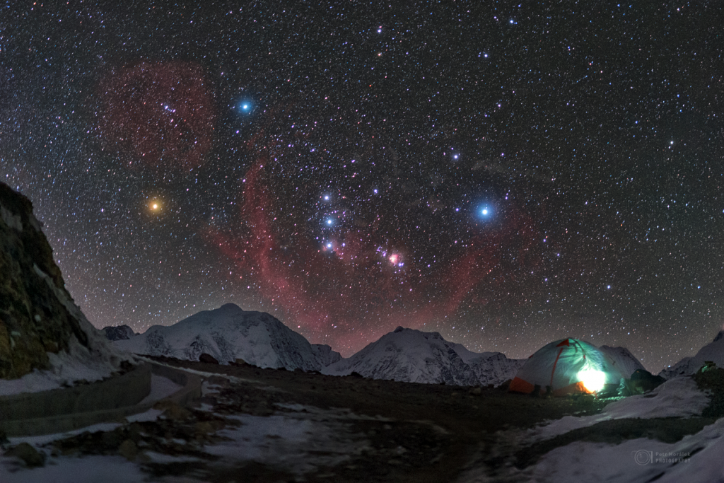 Orion rising over Mt. Gongga region
