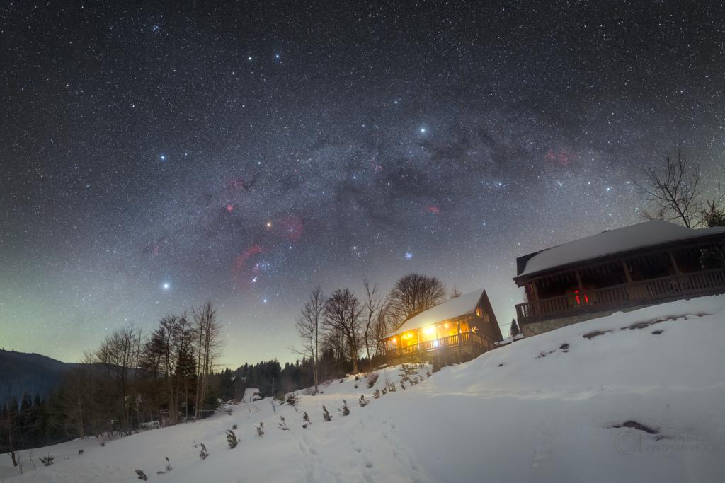 The Winter Hexagon over Oravska Lesna
