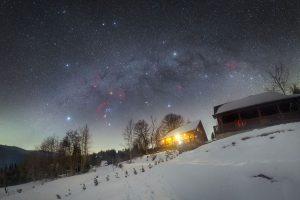 Zimní hvězdy nad Oravou