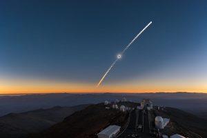 Sekvence zatmění Slunce nad La Sillou