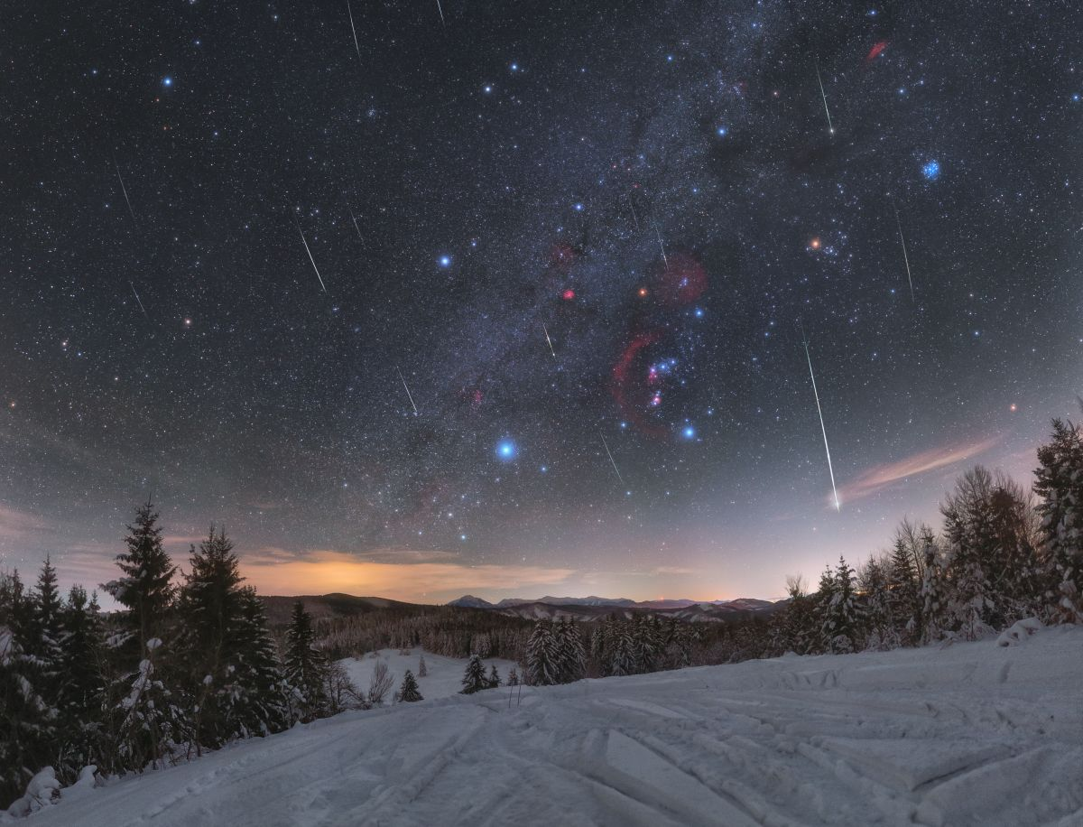 Meteory a Orion