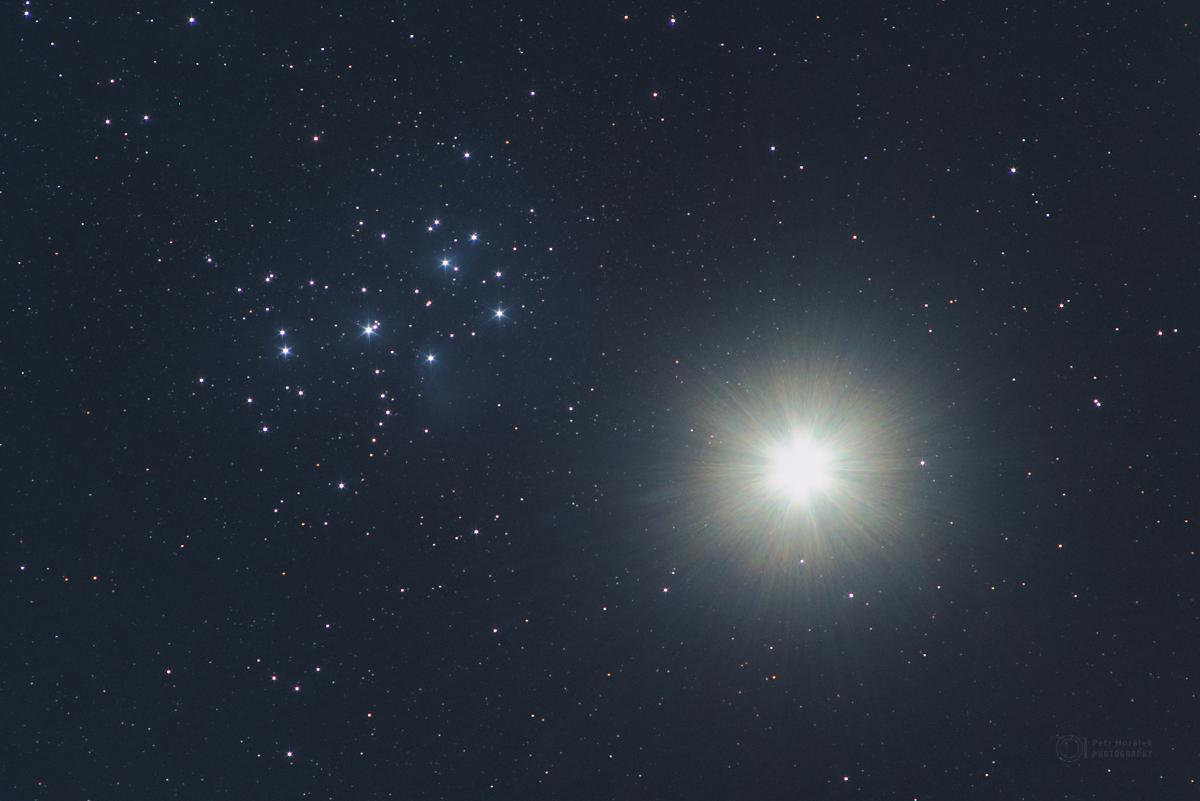 Venus and Pleiades