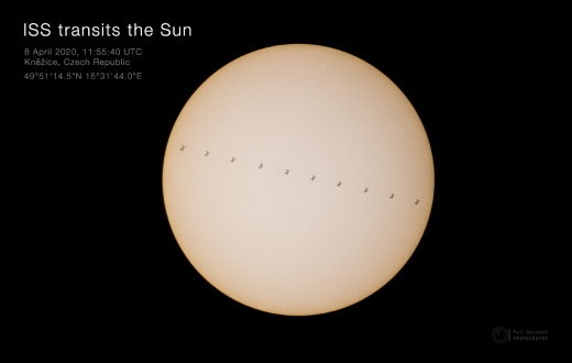 ISS transits the Sun - mosaic