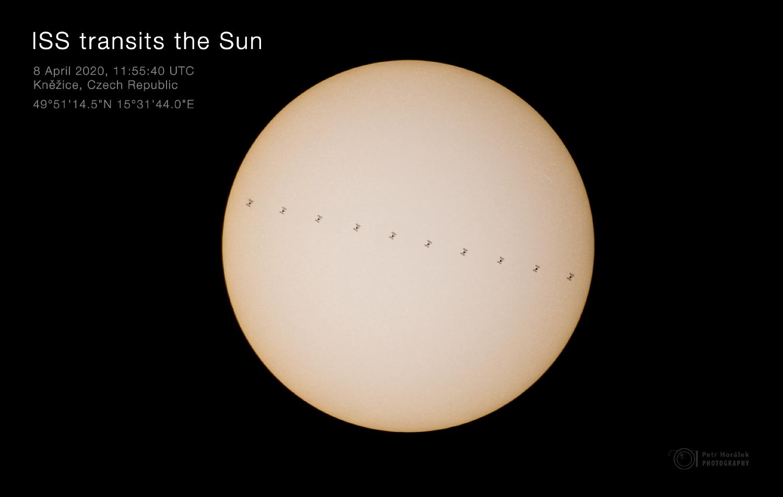 ISS transits the Sun - mosaic