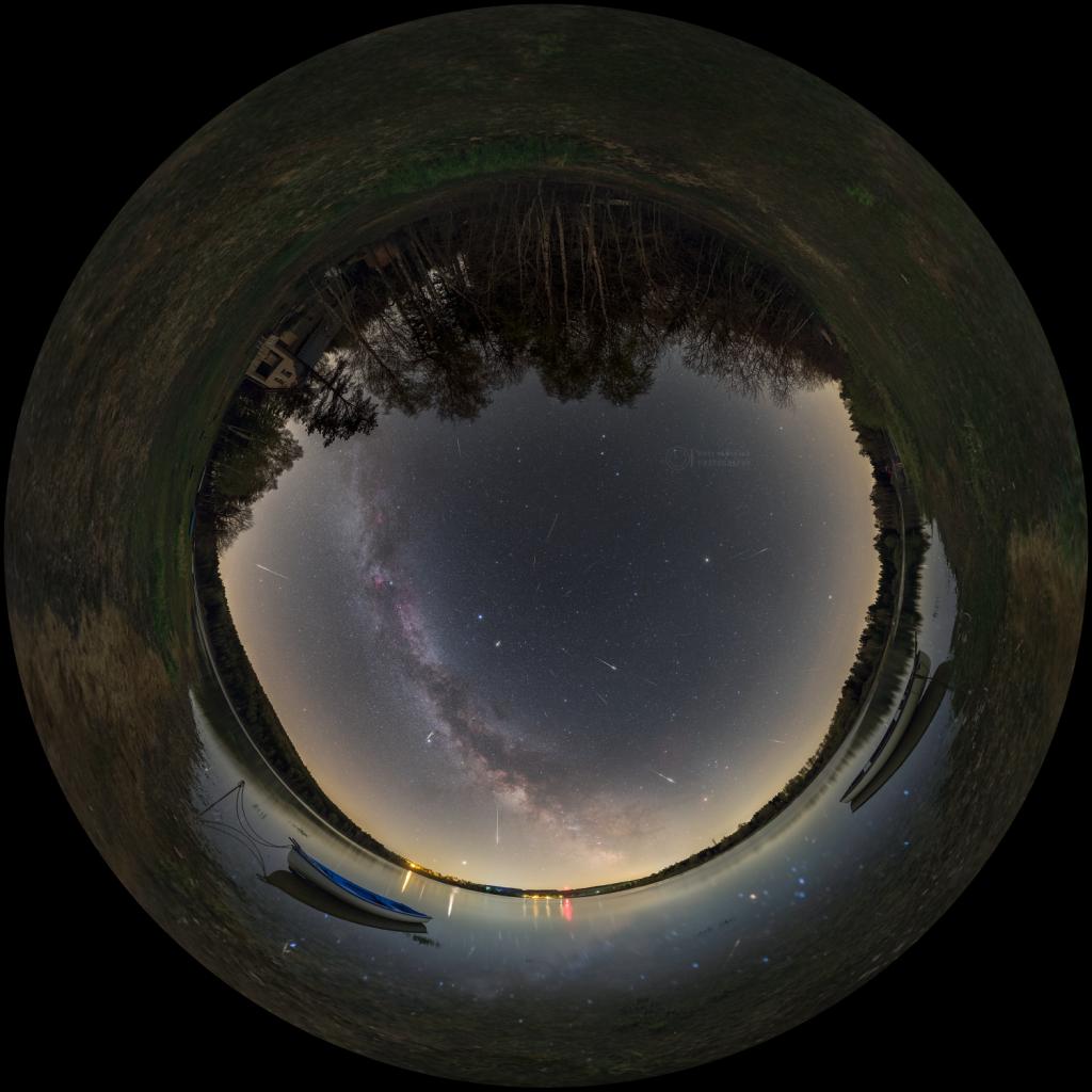 Lyrids 2020 - fulldome view