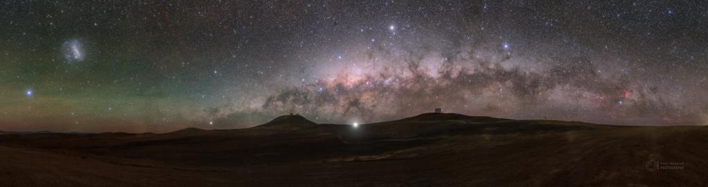 Planetary Beacon over Atacama Desert - wider version