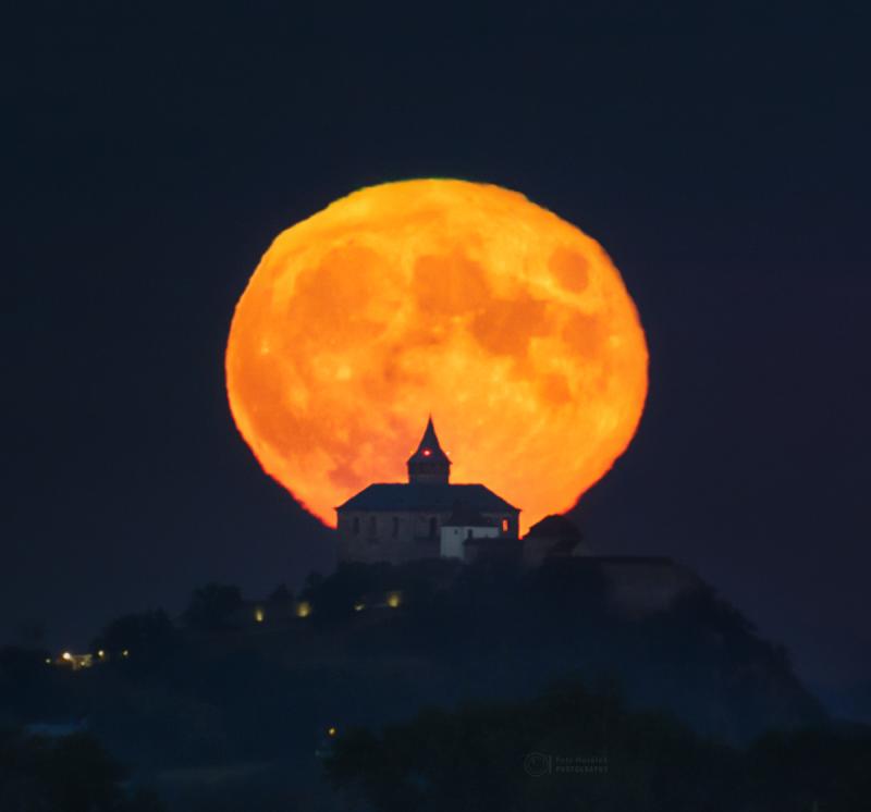Full Moon over castle