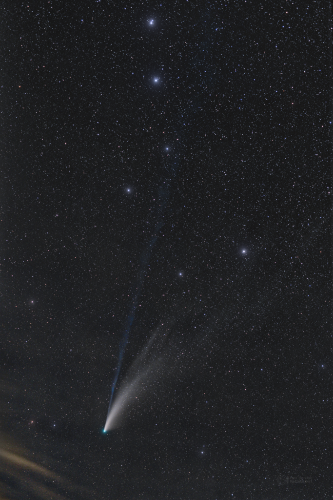 NEOWISE through Big Dipper