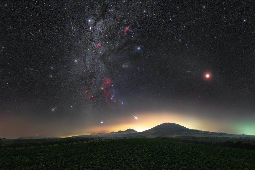Orionids 2020 over Slovakian volcanoes