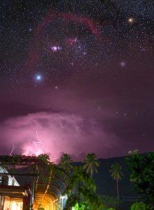 Bouře a Orion