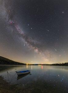 Meteory z Lyry nad přehradou