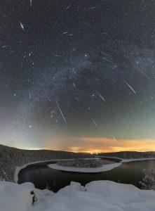 Meteory nad zimní Sečí